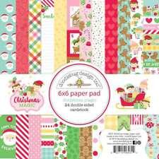 Doodlebug 6531 Christmas Magic Paper Pad 6x6