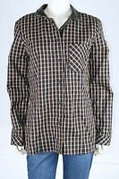Sanctuary Brown Checkered Long Sleeve Buttoned Front Flannel L