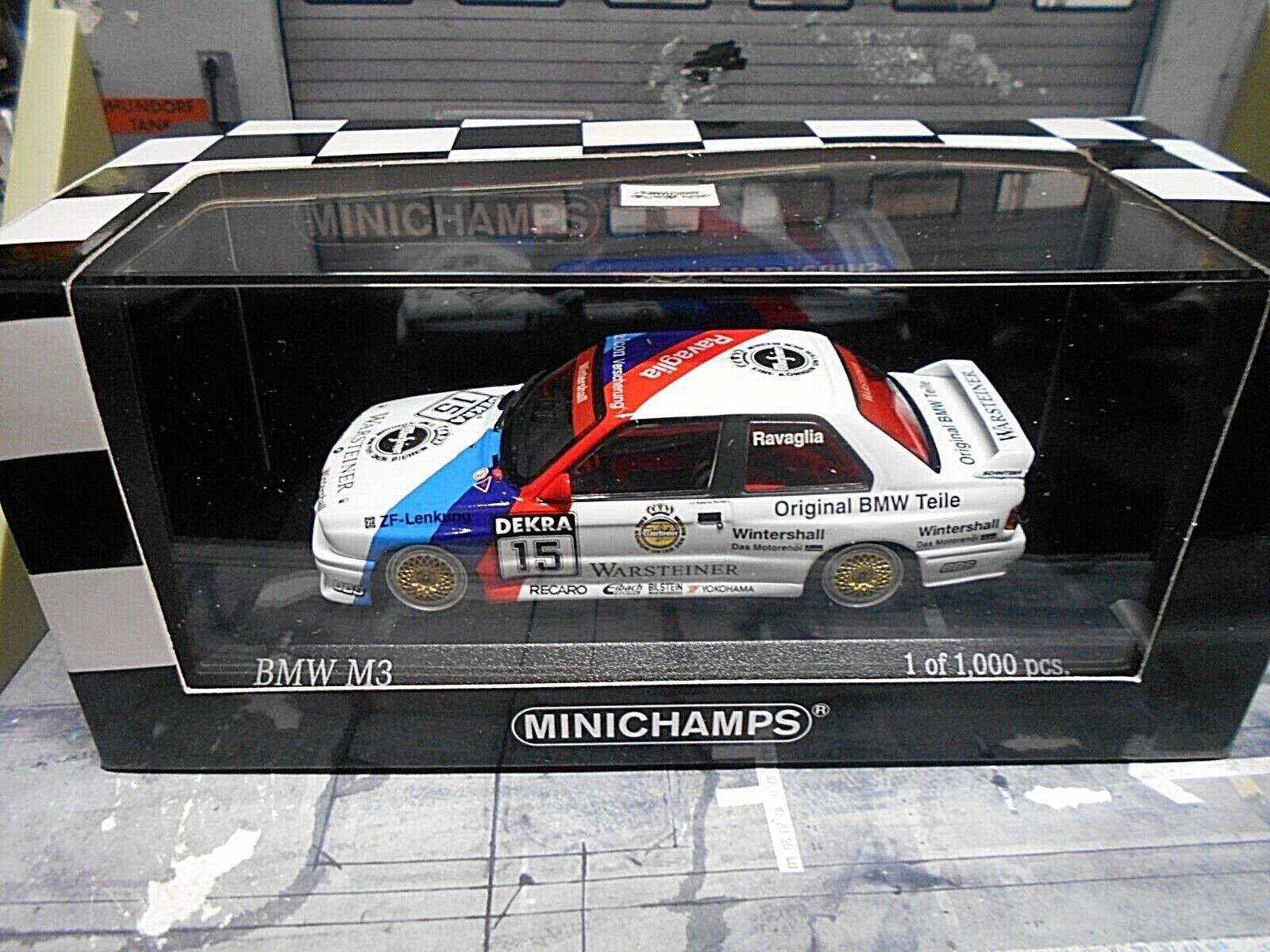 BMW m3 e30 DTM 1989  15 15 15 Ravaglia Warsteiner M-TEAM Schnitzer Minichamps 1 43 a83545
