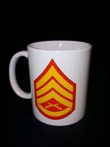 USMC-Staff-Sergeant-SSgt-11-oz-Coffee-Mug-FREE-NAME-MOS-Two-sided