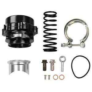 BOV 6PSI TiAL Q BV50 Black 50mm Blow Off Valve 18PSI Springs - Up to 35PSI