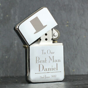 bd1f7c611d11 Image is loading Wedding-Favours-Personalised-Engraved-Silver-Lighters-Men- Male-