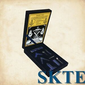 Miniature-Masonic-Blue-Lodge-Freemason-Working-Tool-Set-in-Velvet-Gift-Box
