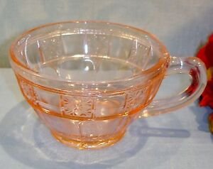 Pink-Depression-Glass-Jeannette-Doric-Cup