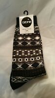Ozone Socks Fashion Footwear Mens Navy Blue Gray White Black Sox Designer