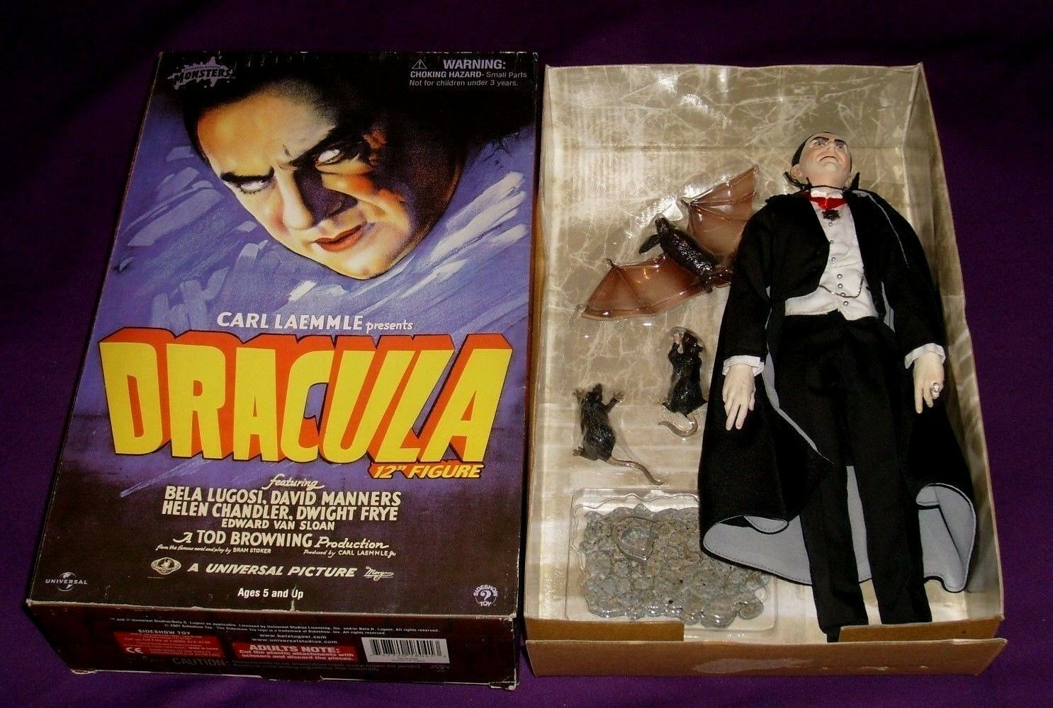 Vintage Sideshow Collectibles Collectibles Collectibles 12 inch Dracula Figure, Bela Lugosi, Opened Box 846ee3
