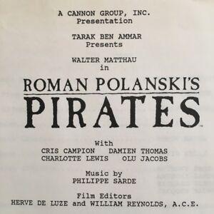 Details about ROMAN POLANSKI 1986 PIRATES Press Kit Production Book Cast &  Crew Credits Promo