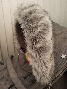 Stokke-Winter-Kit-Fur-Hood-Trim-Fur-Silver-Black-Melange-New-Furs