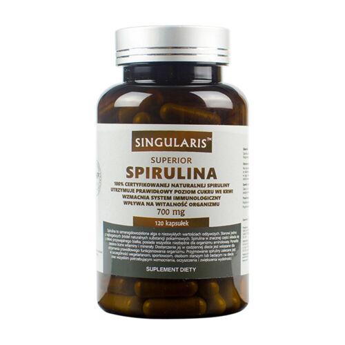 Junges Aussehen Singularis® SPIRULINA SUPERIOR 700mg 120 Vegane Kapseln