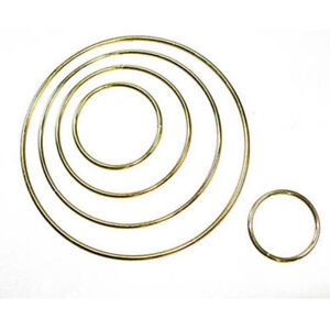 "Metal Dreamcatcher Ring Hoop Brass Plated 12/"" 30.5cm"