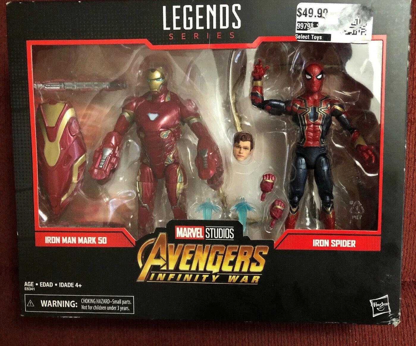 Marvel Legends Avengers Infinity War Endgame Iron Man Iron Spider 2 pack