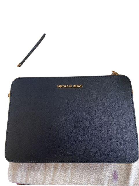 Michael Kors Women's Jet Set Item Crossbody Bag Saffiano Leather Black