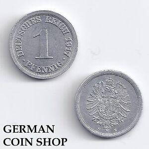 1 Pfennig Aluminium 1917 A D E F G J - Bitte Auswählen - Kriegsgeld Kaiserreich Gut FüR Energie Und Die Milz