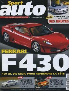 SPORT-AUTO-n-512-de-Septembre-2004-FERRARI-F430-FORD-GT-AUDI-RS6-PORSCHE-911-GT2