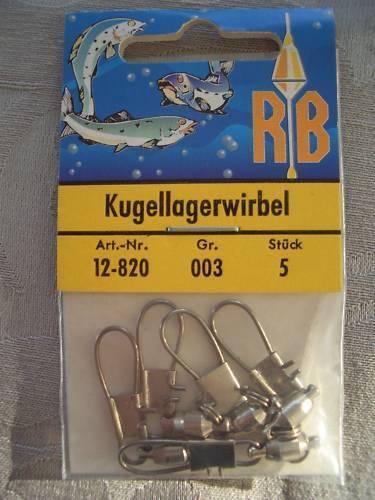 Gr von RB ovp Wirbel 3  Inhalt:  5 Stück neu Kugellagerwirbel