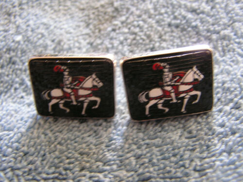 Vintage Cufflinks with Carlisle Horse