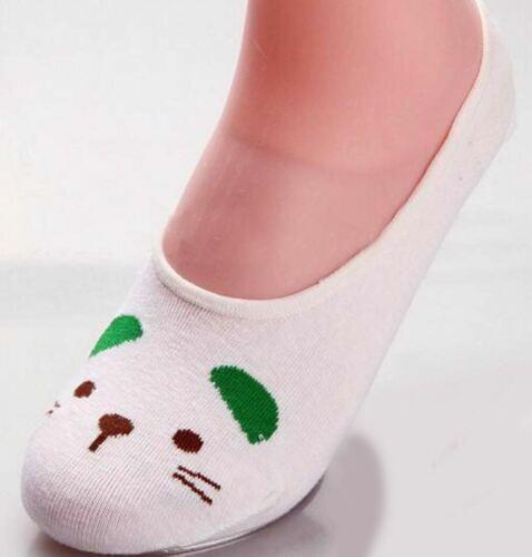 Women Girl Ankle Socks Slippers Soft thin Lovely Cartoon Lady stealth