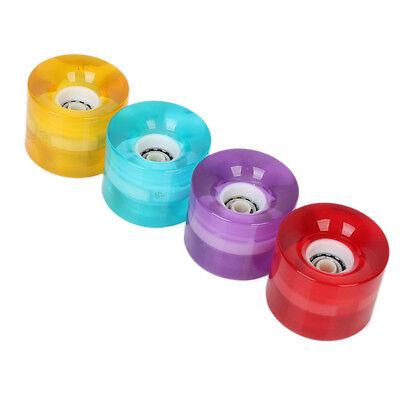 2PCS/Set Professional LED Light Up Skateboard Longboard Wheels 59 X 45mm