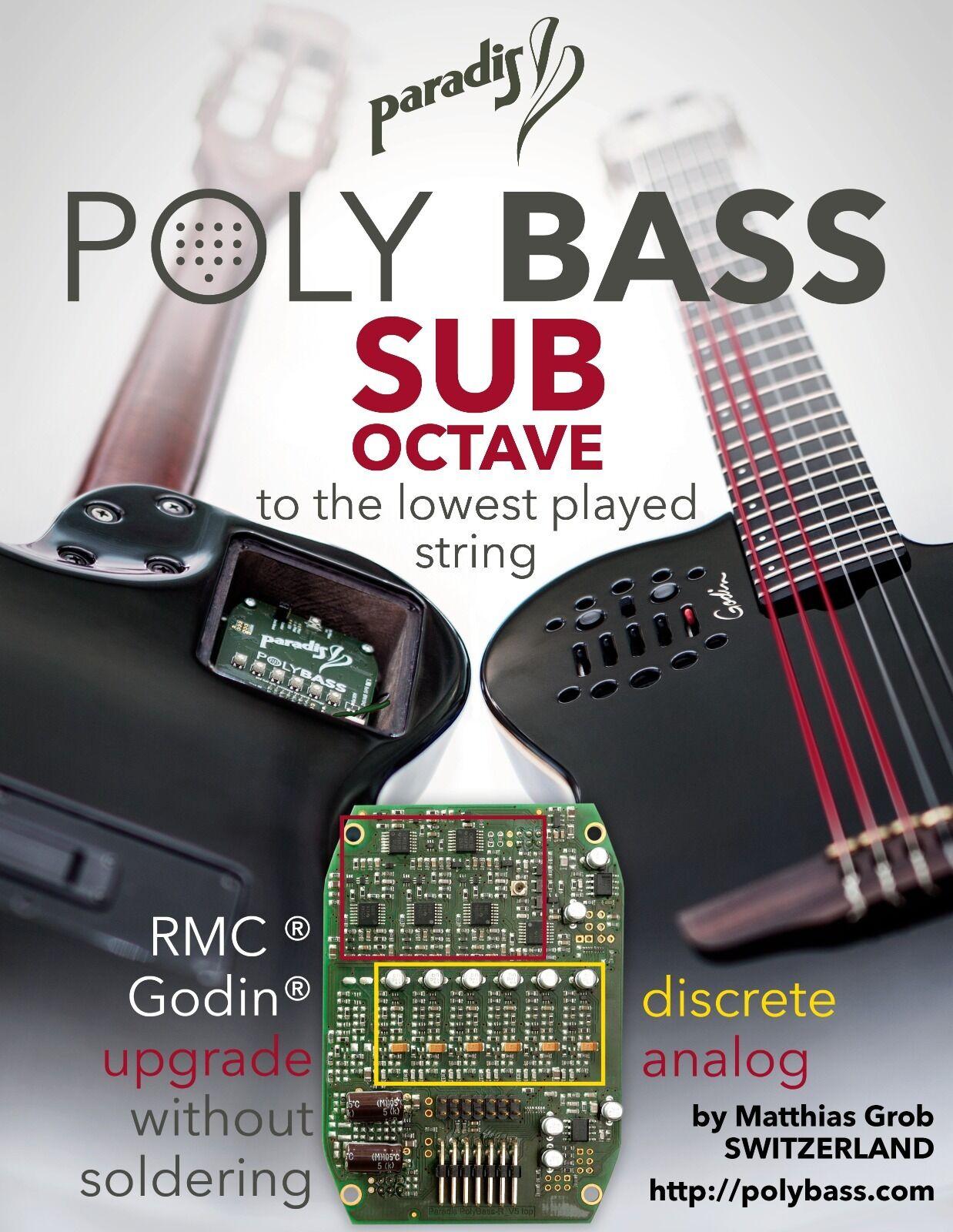 Polybass Subbass (hex octaver) für Godin Multiac SA/ACS oder RMC Polydrive
