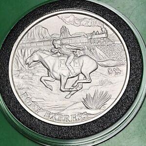 1oz Copper Round Pony Express