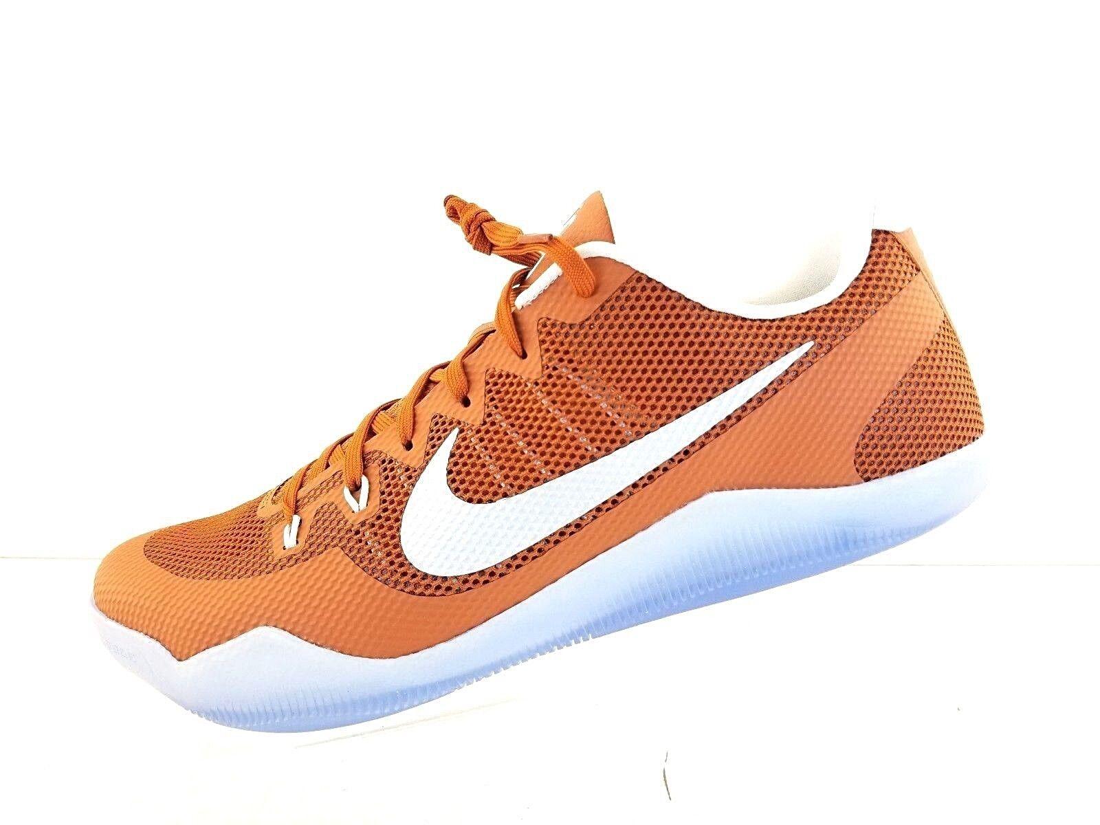 Nike Men's Kobe XI 11 TB Texas Longhorns Desert Burnt orange Sz 17