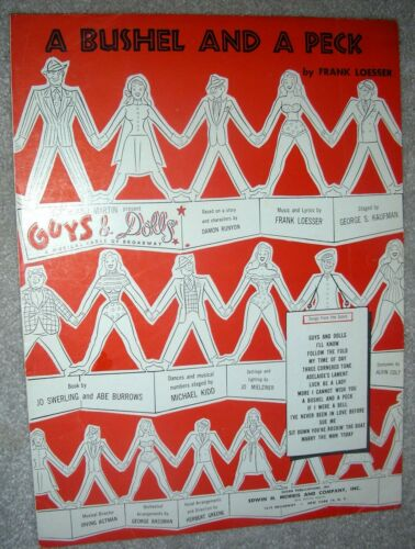 1950 A BUSHEL AND A PECK Sheet Music GUYS /& DOLLS by Frank Loesser