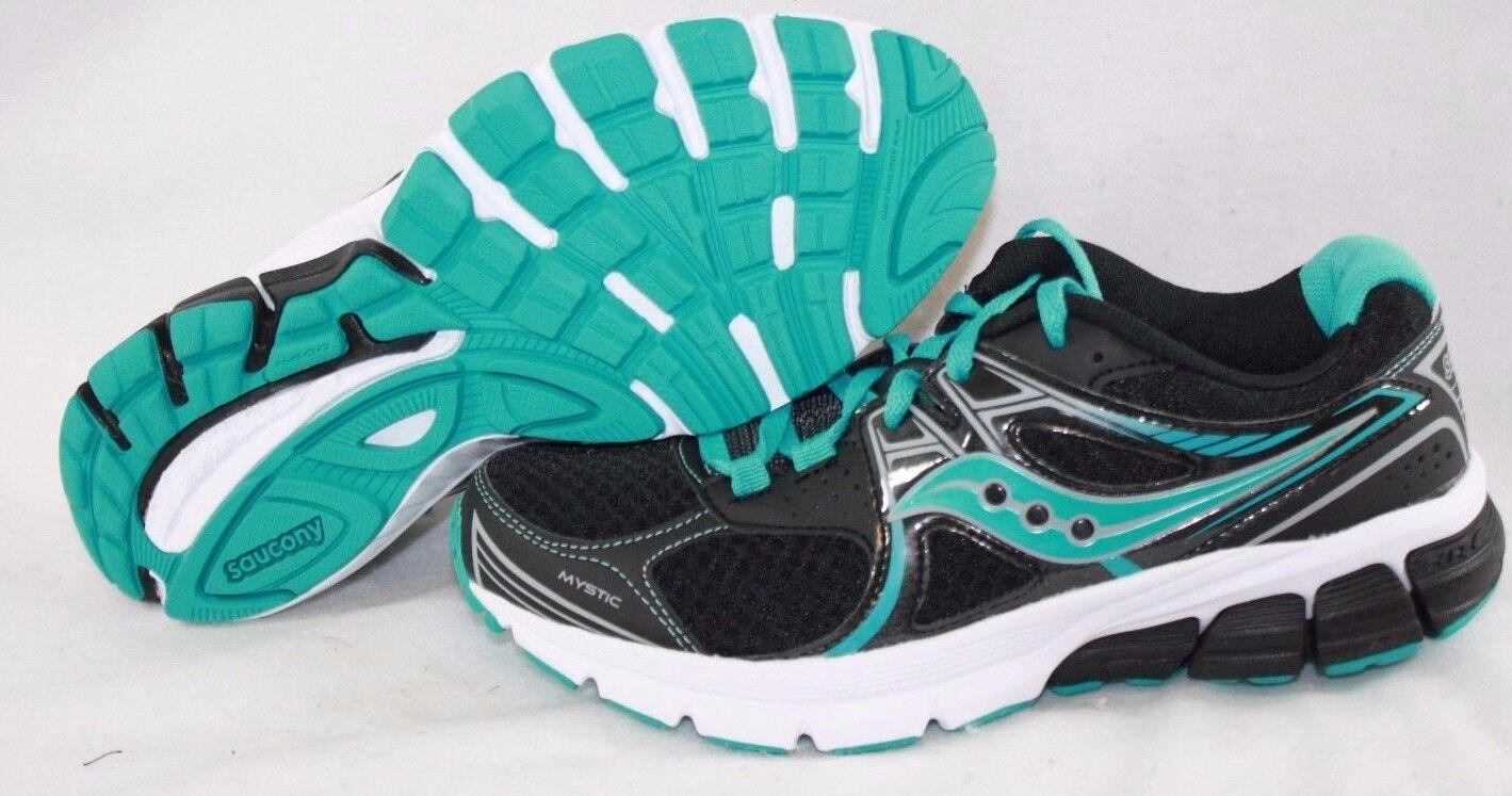 Nueva camiseta para mujer Saucony Saucony Saucony Grid místico S15248-10 Negro Aqua azul Zapatillas Zapatos  precios bajos