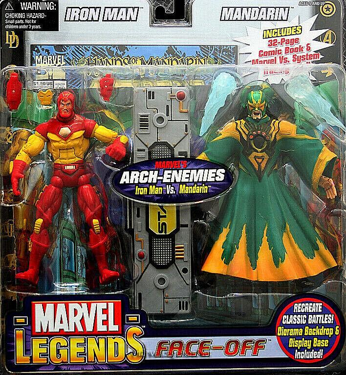 Marvel Legends Face-Off  IRON uomo uomoDARIN 2 cifras PVC 16cm  servizio premuroso