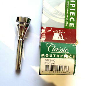 DENIS-WICK-4C-CLASSIC-TRUMPET-MOUTHPIECE-NEW-BOXED-SILVER-PLATE