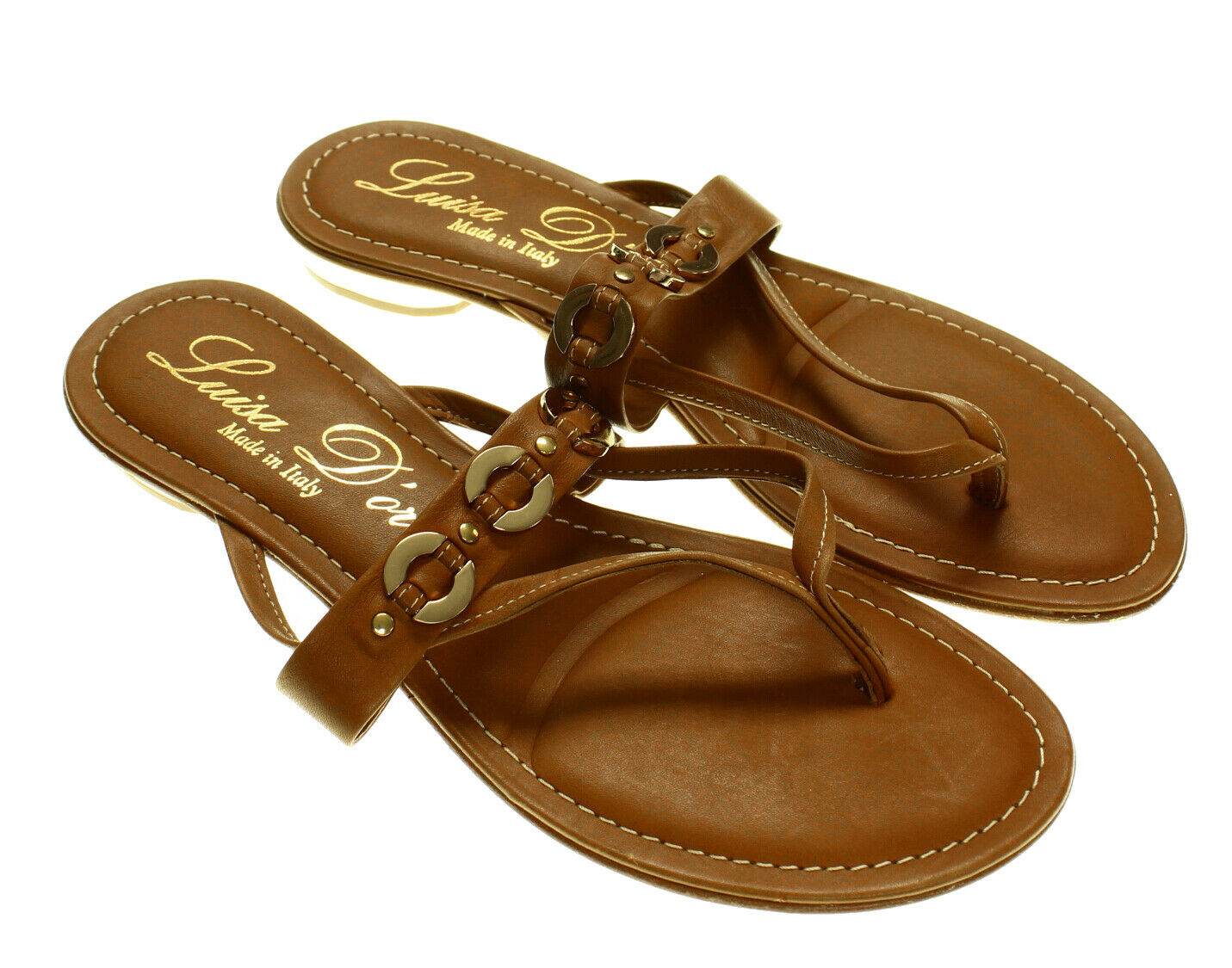 NEW - LUISA D'ORIO Women's FLIP FLOP Brown THONG SANDALS - US 9