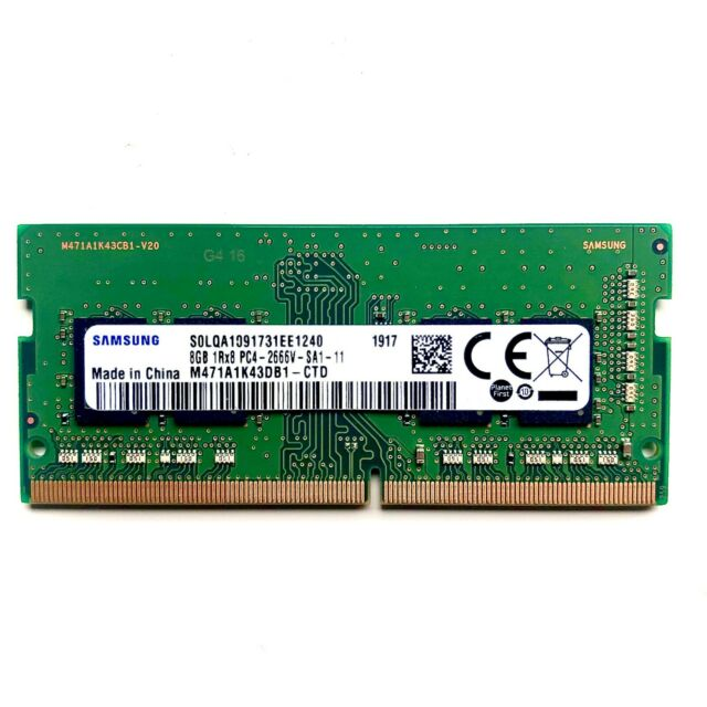 SAMSUNG 8GB SDRAM DDR4 PC4 2666V 260 PIN SO DIMM Laptop MemoryRAM Upgrade