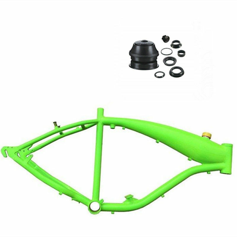 Reinforced Bicycle gas frame with fule tank,2.4L frame and headset - Green color