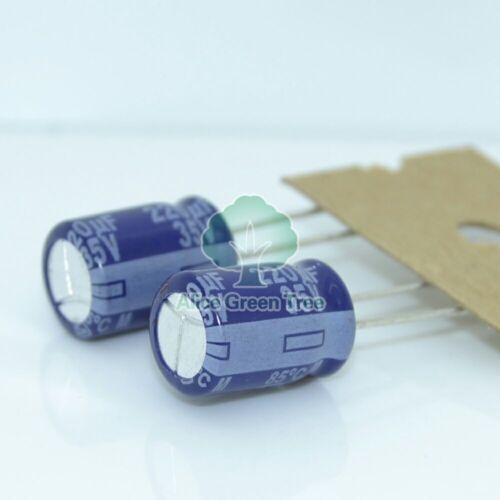 6216 20pcs For Matsushita M 220uF//35V 8*11.5mm Audio Electrolytic Capacitor