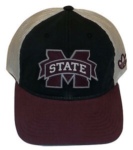 9013fdd964325 Image is loading Adidas-Mississippi-State-Bulldogs-Snapback-Mesh-Hat-Trucker -