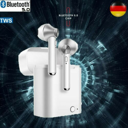 DE In-Ear Kopfhörer Bluetooth 5.0 Drahtlose Mini TWS Ohrhörer Headset Ladebox