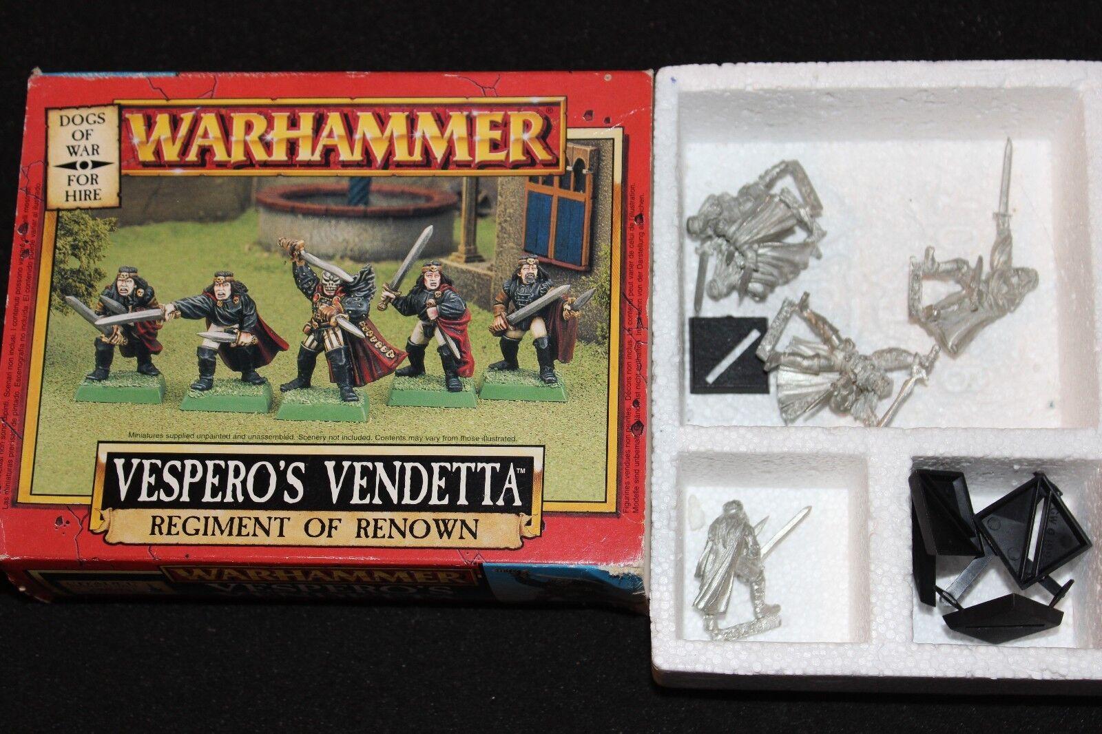 Warhammer Games Workshop Dogs of War Vesperos Vendetta Boxed New Regiment NIB