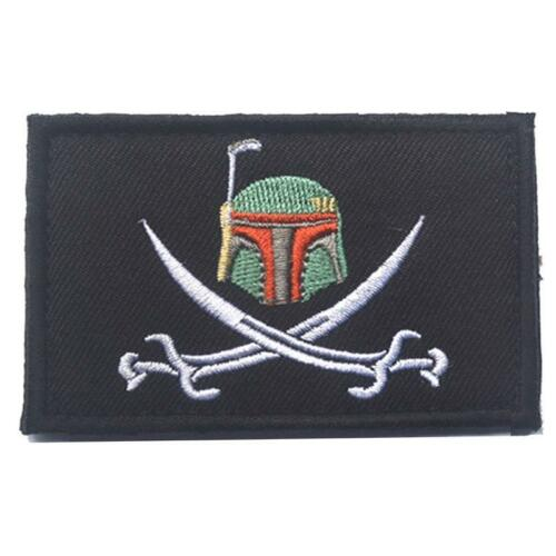 Boba Fett Swords Embroidered Cosplay Airsoft Patch