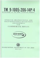 Commercial Rifles 9-1005-206-14p/4 Army Manual Winchester Model 75 52d 70 300