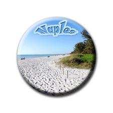 Naples Beach Florida - Souvenir - Kühlschrankmagnet mit Ø 60 mm