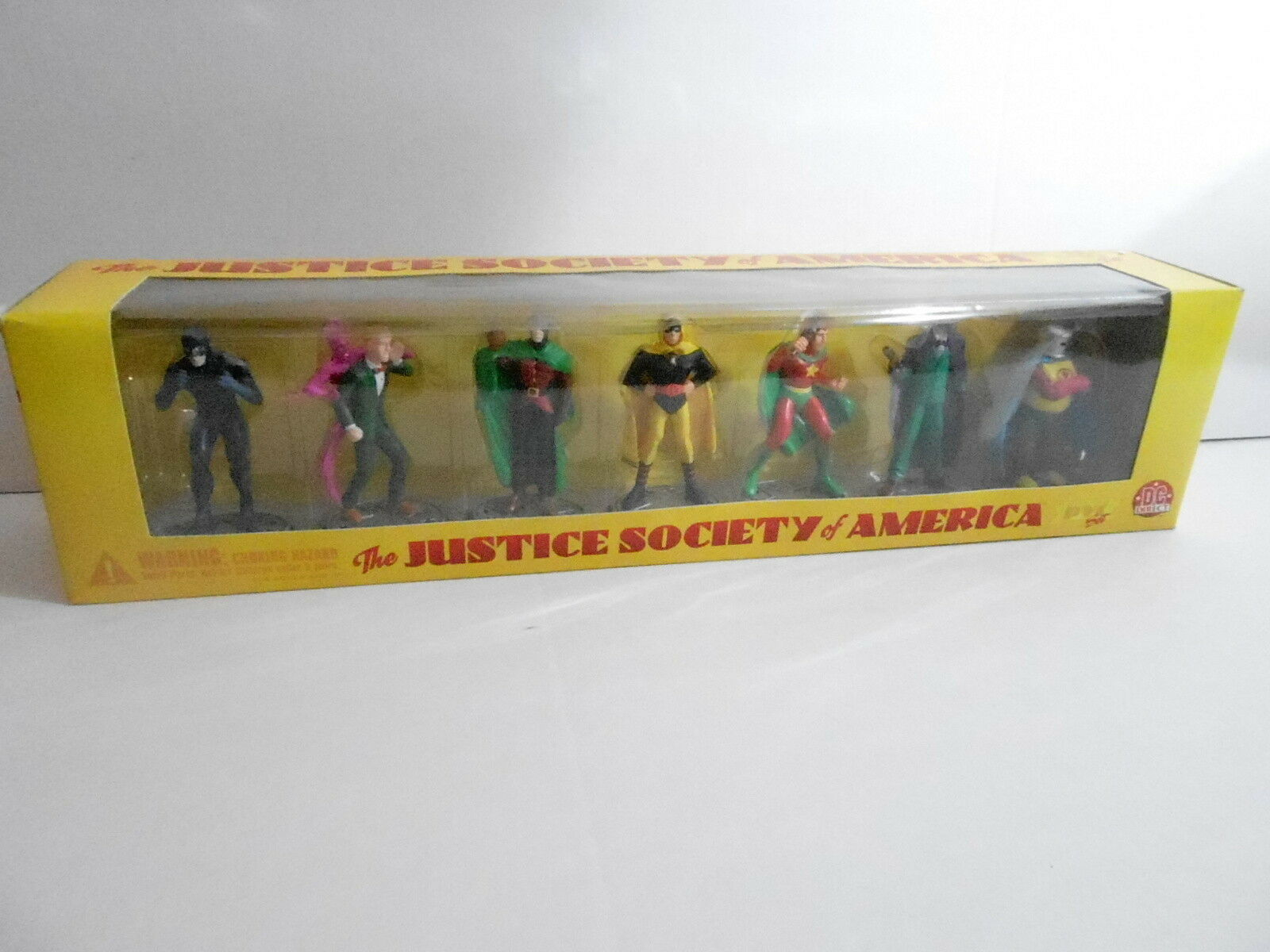MIB DC DIRECT ACTION FIGURE TOY SET - JUSTCE SOCIETY OF AMERICA SERIES 1 - (S4)