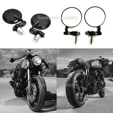 BLACK MOTORCYCLE CLAMP ON 7/8 HANDLE BAR END MIRRORS FOR HONDA SUZUKI YAMAHA US