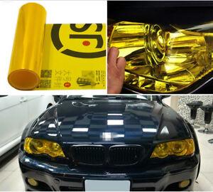 30x100cm-Car-Van-Headlight-Fog-Taillight-Wrap-Tint-Vinyl-Film-Cover-Gold-Yellow