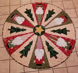 Christmas Tree Skirt Patterns.Details About Quilt Pattern Christmas Tree Skirt Santa Gnomes Table Topper Nisse Elf