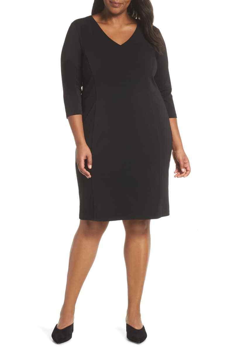 NWOT Sejour Seamed Crepe Dress 26 26W