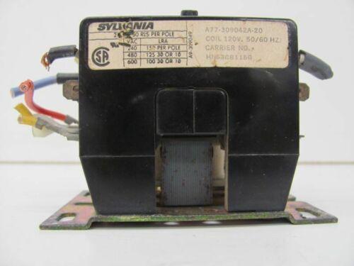 SYLVANIA A77-309042A-20 DEFINATE PURPOSE CONTACTOR 3P 120V COIL 50//60HZ USED!!!