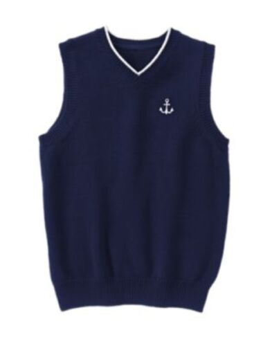 GYMBOREE PICTURE DAY NAVY w// ANCHOR SWEATER VEST 4 5 6 7 8 NWT