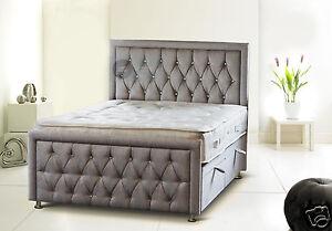 UK Made Rozzini Chesterfield Diamond Ottoman Storage Bed Headboard