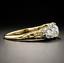 Vintage-Yellow-Gold-Plated-White-Topaz-Band-Wedding-Engagement-Ring-Wholesale thumbnail 4