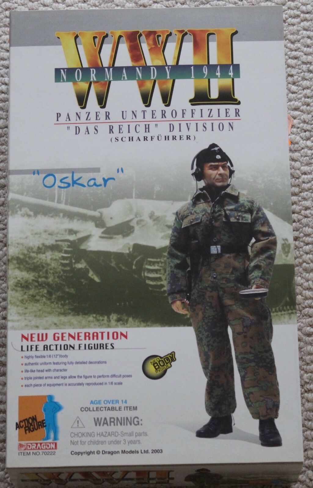 Dragon Action Figure ww11 tedesco Oskar CISTERNA 1/6 12  70222 DID Cyber HOT Toy