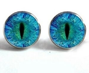 blue products cooee design stud earrings circle bla mirror
